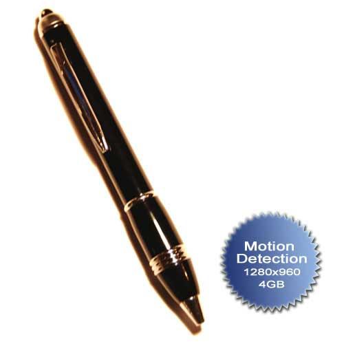 Penna Spia nera con microcamera nascosta e funzione motion detection